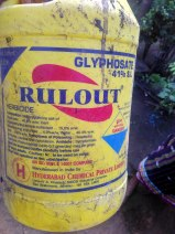 Glysophate herbicide- Rulout